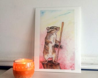 Page Of Wands Chipmunk Print