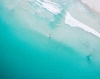 Wall Art | Aerial Photography | Print | Beach | Seascape | Leighton Beach | Western Australia | Paddle Boarders