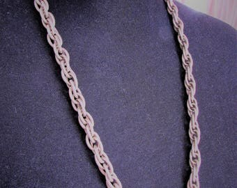Metal chain necklace from 1970's