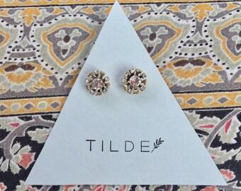Bright circular earrings