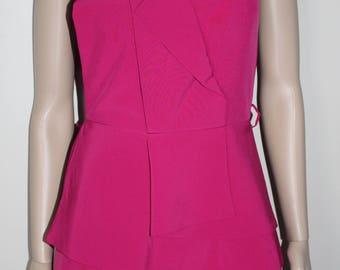 Strapless dress pink new T 2-38 cotton elastane