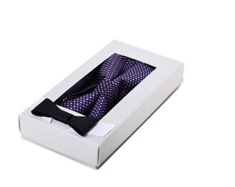 Box with lid, packaging, box with window, box for bowtie