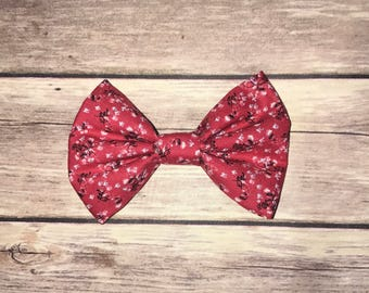 Red Floral Bow
