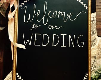 Wedding Welcome Sign // Welcome to our Wedding