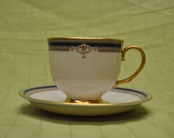 Lenox Buchanan Presidential footed cup & saucer