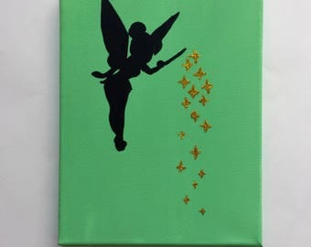 Tinker Bell Silhouette with Pixie Dust