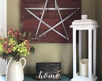 Rustic Lantern - Wood Lantern - Wedding Lantern - Christmas Gift for Mom- Wedding Decorations - Rustic Home Decor - Farmhouse Decor