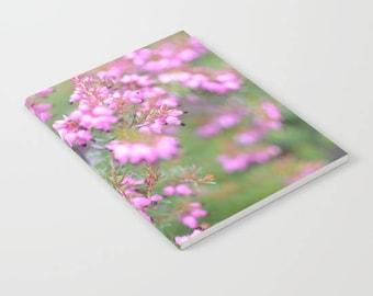 Pink floral notebook, lined notebook, floral notebooks, floral stationary, pink flower, pink stationary, paper, a5 notebook, stationary gift