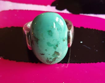 Vintage Turquoise And Sterling Ring Size 10