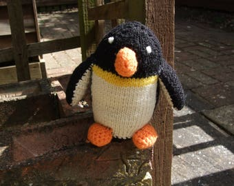 Hand Knitted Penguin soft toy
