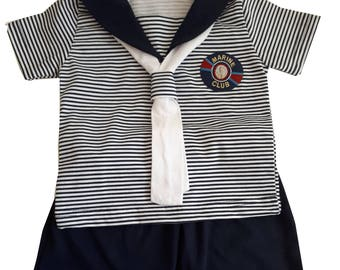 New sailor boy costume Striped clothes