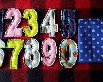 Fabric Numbers 0-9