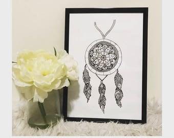 Mandala Dream Catcher - Print