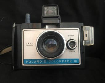 Vintage 1970's POLAROID COLORPACK III (Land Camera)