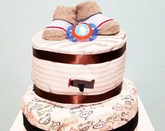 Pint-Sized Pilot Diaper Cake
