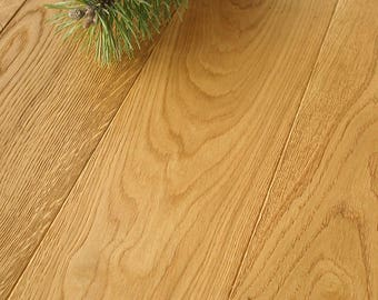 Natural Oak Flooring - Brushed & Osmo Oiled - Real Wood SAMPLE D11