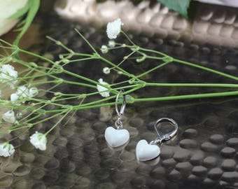 Stainless steel heart shaped earrings