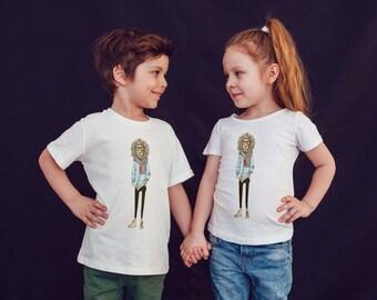 Lion Hipster Kids Shirts Kids Tshirt Toddler Shirt Gift For Kids Children Fashion Kids Shirt Kid T-Shirt Boys Top Girl Top Kids Clothes