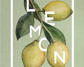 LEMON Botanical Art Print