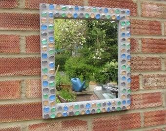 Glass Pebble Mosaic Mirror