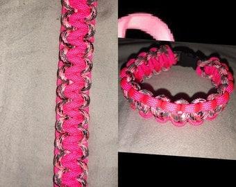 Breast Cancer Awareness Paracord Bracelet