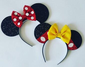 Minnie Mouse Ears || Minnie Mouse Ears || Mickey Mouse Ears|| Mouse Ears Headband