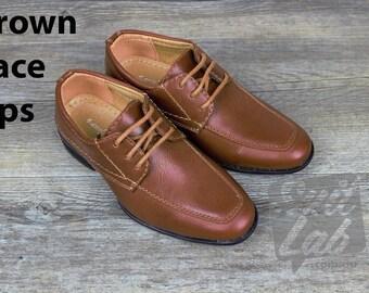 Boys Formal Wedding Brown Shoes - Wedding, Church, Formal, Communion Shoes
