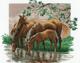 Cross-stitch horse