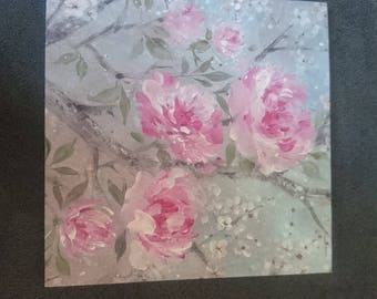 Pink blossoms general greetings card