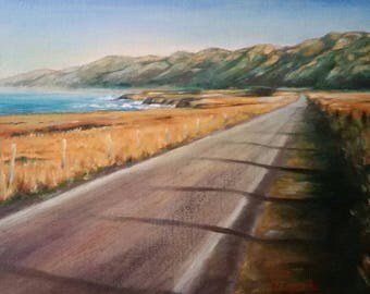 Original Oil Painting Fine Art Landscape Rte 1 Pacific Coast Highway