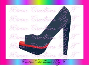 Toe out High Heels svg