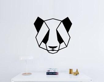 Geometric Panda Bear Decal