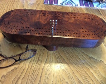 Redwood Cribbage board