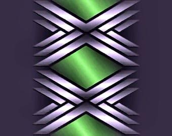 GRAPHIC METAL ART 111 - 3er set - canvas - canvas - poster - color - color - graphic art - graphic art - modern art - modern art