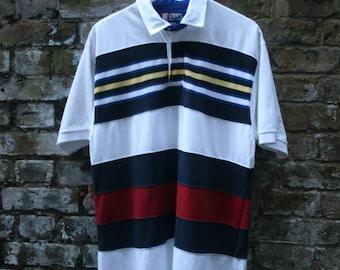 Ralph Lauren Chaps Polo Shirt Colour Block Large