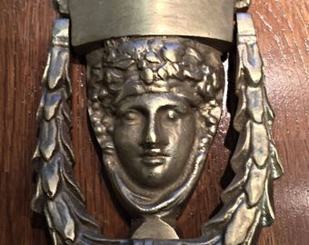 knocker in the goddess Medusa-antique solid bronze door - KNOCKER ANTIC.