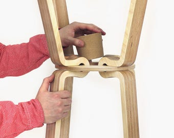 Designer coat stand with XL Cork - Cork stopper coat stand