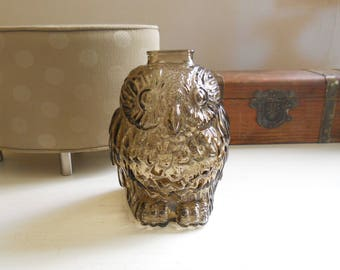 Wise old owl bank etsy - Wise old owl glass bank ...
