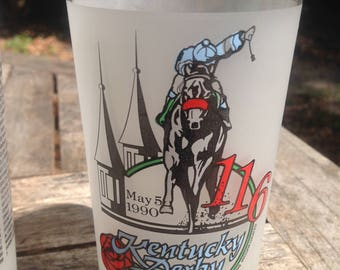Kentucky Derby Commemorative Mint Julep glass set