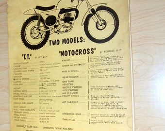 Bultaco T.T. and Motocross Exploded Parts Diagrams (Original!) 1960s