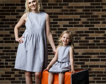 Pompon dress for mommys