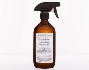 Natural Bathroom Cleaner in 500ml Amber Glass Bottle with Canyon Trigger Spray