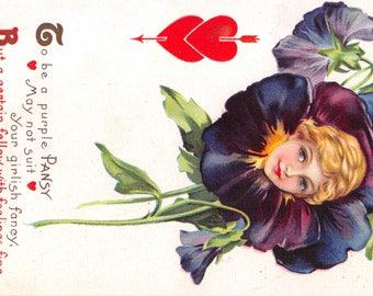 Helen E Jeffers Fantasy Valentine Romance Postcard