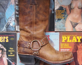 FRYE leather motorcycle boots size 7