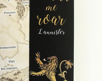 Game of Thrones Bookmark HEAR ME ROAR Lannister