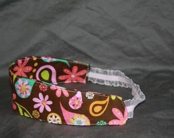 Multi-colored flower headband (children's)