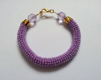Female bracelet the Gift for the woman Braslet from beads the Violet bracelet of Ornament for women the Gift on birthday of Braslet