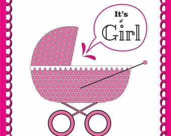 "Greeting card ""It's a girl"""