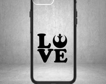 Love Rebel Vinyl Decal, Love Rebel Sticker, Love Rebel Decal, Star Wars Decal, Star Wars Sticker, Star Wars, Phone Case, Love Rebel Symbol