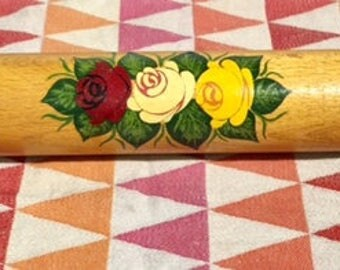 Hand Painted Vintage Rolling Pin